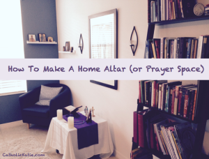 Home altar - catholickatie