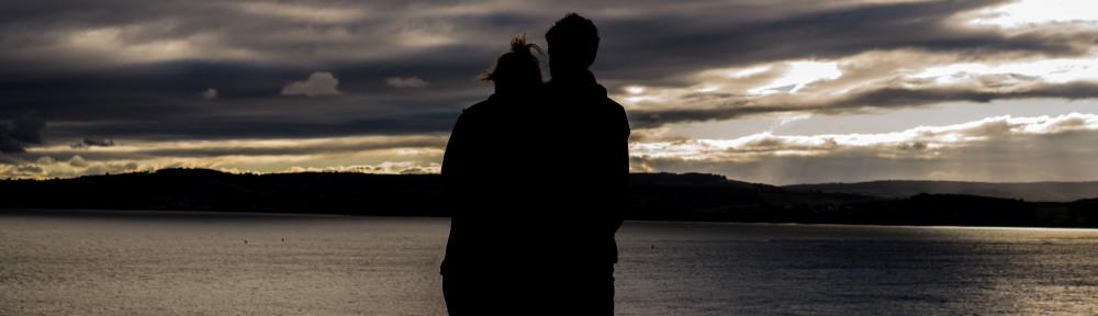 couple on ocean