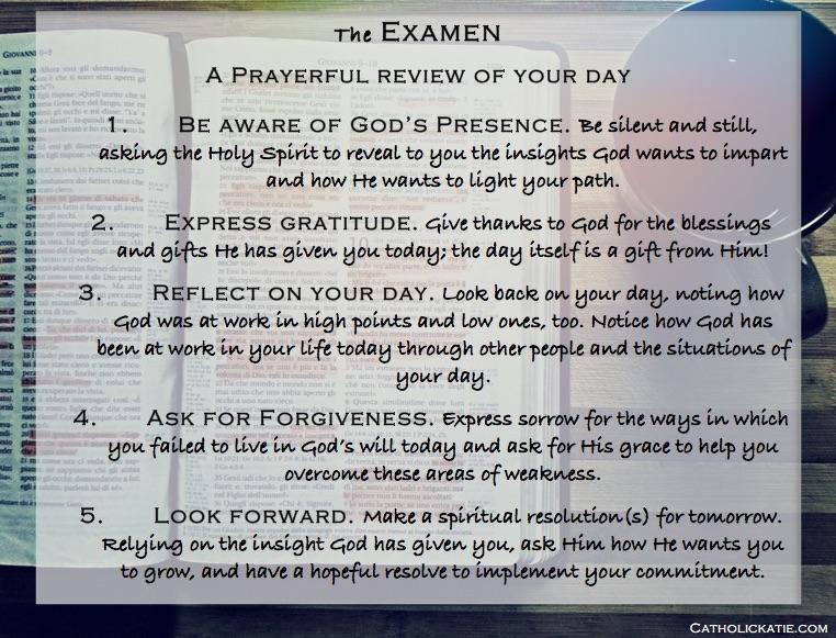 the EXAMEN printable